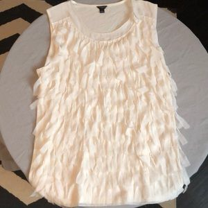 Ann Taylor cream colored cami with detailing